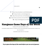 Hangman Game Days of the Week - ESL Kids Games