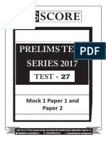 UPSC PRELIMS Mock Paper 1 and 2