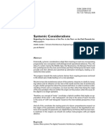 Systemic considerations