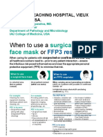 When to use a surgical face mask or FFP3 respirator Osborne Nelson,MD