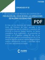 COMUNICADO PREVENCIÓN CORONAVIRUS 3