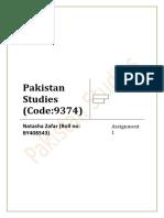 Pakistan Studies Assignment 1.docx