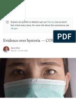 Evidence Over Hysteria — COVID-19 - Six Four Six Nine - Medium