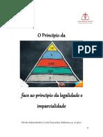 O princípio da hierarquia face ao princípio da legalidade e imparcialidade