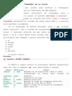 Comandos ip no Linux