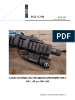A Look at Crimson Trace Weapon Mounted Lights Part II CWL-102 and CWL-202