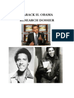Barack H Obama Research Dossier