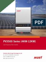 PV3500 Series 4-12KW MPPT