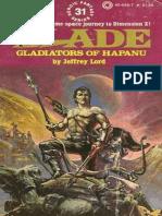 Blade 31 - Gladiators of Hapanu - Jeffrey Lord.epub