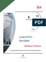 13-04 Le novità di ITIL 2011 - Service Operation v1.0