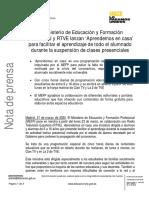 Nota de MEFP Sobre Tele Educativa