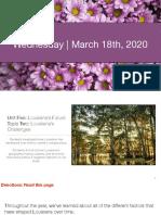 Week 1 - Social Studies - 03.16.20 - 03.20.20