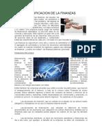 Clasificación de las finanzas