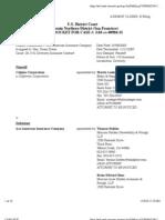 CALPINE CORPORATION v. ACE AMERICAN INSURANCE COMPANY Docket