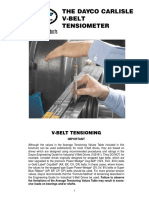 Dayco Tensiometer Instructions