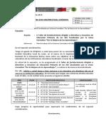 Oficio Múltiple Nº 0063-2019 _ I Taller de fortalecimiento dirigido a Directivos y Docentes de EP