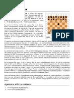 Apertura_abierta en ajedrez