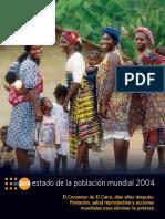 Estado de la Población Mundial 2004