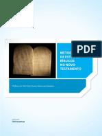 MÉTODOS DE ESTUDOS BÍBLICOS NO NOVO TESTAMENTO