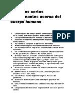 99 Datos Cortos y Fascinantes Acerca Del Cuerpo Humano.
