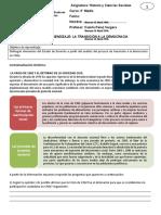 Guía de Aprendizaje transicion democratica chile 1 3° Medio