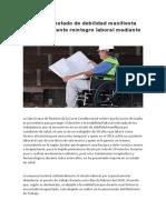 Despido en estado de debilidad manifiesta hace procedente reintegro laboral mediante tutela.docx