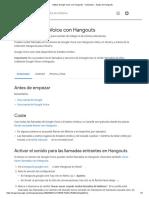 Utilizar GoogleVoice con Hangouts - Ordenador - Ayuda de Hangouts