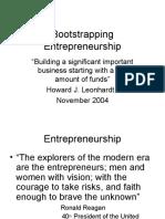 Bootstrapping Entrepreneurship