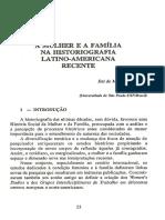 A mulher e a família na historiografia latino-americana recente - Eni de Mesquita Samara
