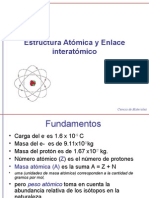 Estructura Atómica y Enlace interatómico