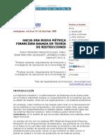HACIA UNA NUEVA MÉTRICA FINANCIERA BASADA EN TEORÍA DE RESTRICCIONES