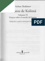 Salámov,Varlam - Relatos de Kolimá Volumen VI [Ensayos sobre el mundo del hampa[escaneo]