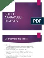 BOLILE APARATULUI DIGESTIV