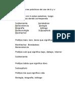 Ejercicios prácticos de uso de b y v