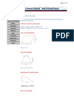 Useful Basic Mathematical Formulas