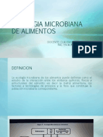 Módulo 2. ECOLOGIA MICROBIANA DE ALIMENTOS