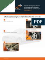 Comment remplacer l'arbre inférieur de la suspension indépendante avant sur une Opel Astra G
