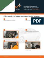 Comment remplacer les plaquettes de frein à disque arrière sur une Ford Focus II