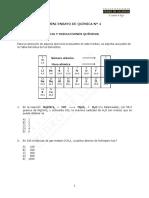 Mini Ensayo N° 4 Química 2019 Estequiometría y Disoluciones (7%)