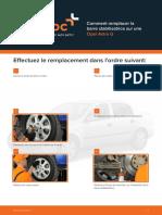 Comment remplacer la barre stabilisatrice sur une Opel Astra G