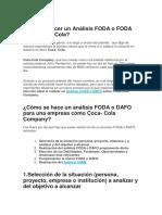 Analisis FODA Coca Cola en pdf
