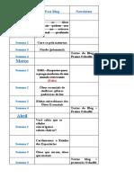 Planejamento de produção de conteúdo - Oshadhi