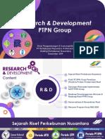 R&D PTPN Group 2020 lingkup perusahaan