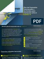 Fedecámaras Plan de Propuestas Transversales y Sectoriales Ante El COVID-19