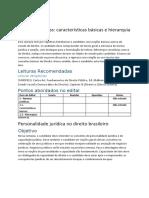 Direito Interno bibliografia