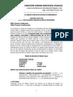 Modelo 2 Habeas Corpus Estado Emergencia - Autor José María Pacori Cari