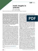Novel therapeutic targets in rheumatoid arthritis