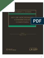 Ley de Sociedades Comerciales. Tomo 1. Ricardo Nissen.pdf