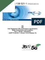 5G NR Carrier Conformance Spec_3GPP TS 38.521