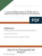 Procedimientos para el Diseño de un Radio Enlace.pptx